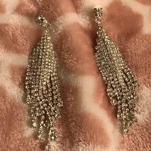 Crystal prom earrings